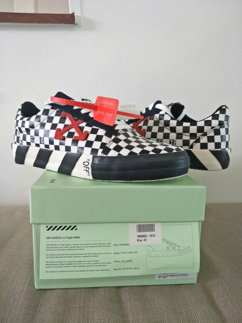 23d68f1888f Off White Vulc Low Checkered