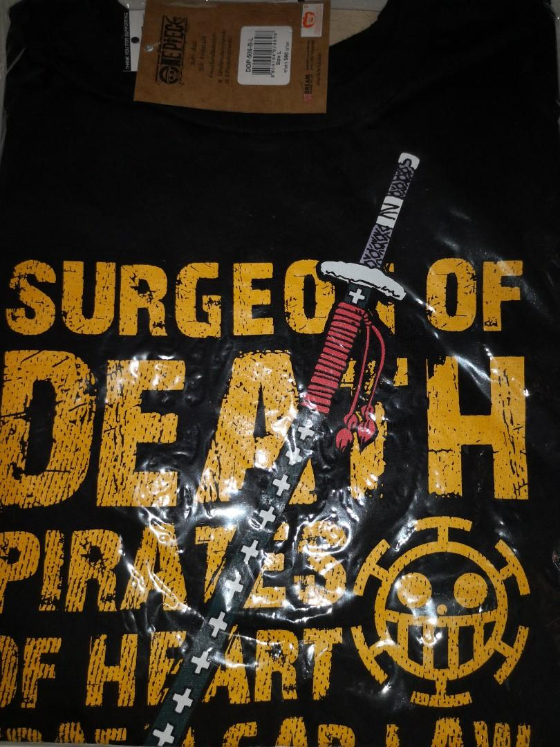 One Piece Trafalgar Law Surgeon Of Death T Shirt Men S Fashion Clothes Tops On Carousell