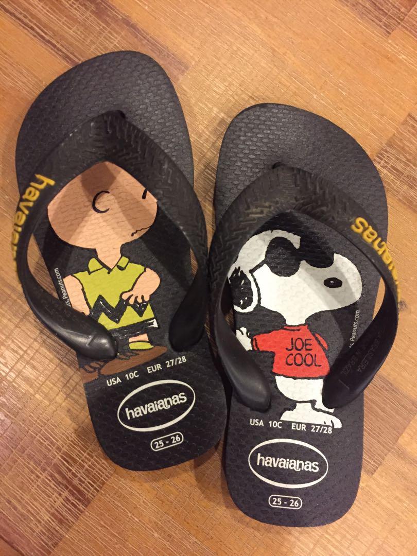 f146eb5fbd Orig Havaianas Peanuts Snoopy Charlie Brown Kids slippers flip flops ...