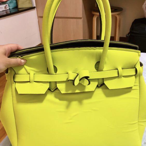 28a72f904b original Save My Bag - lime green