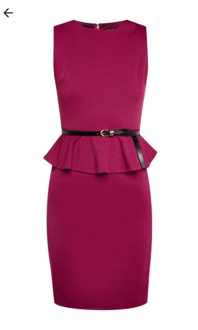Peplum dress (berry)