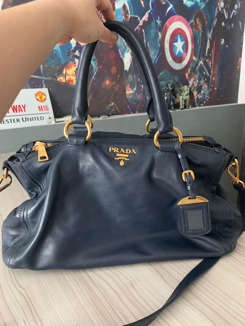 f8efe83ab02554 Prada Nero Soft leather bag in blue, Luxury, Bags & Wallets, Handbags on  Carousell