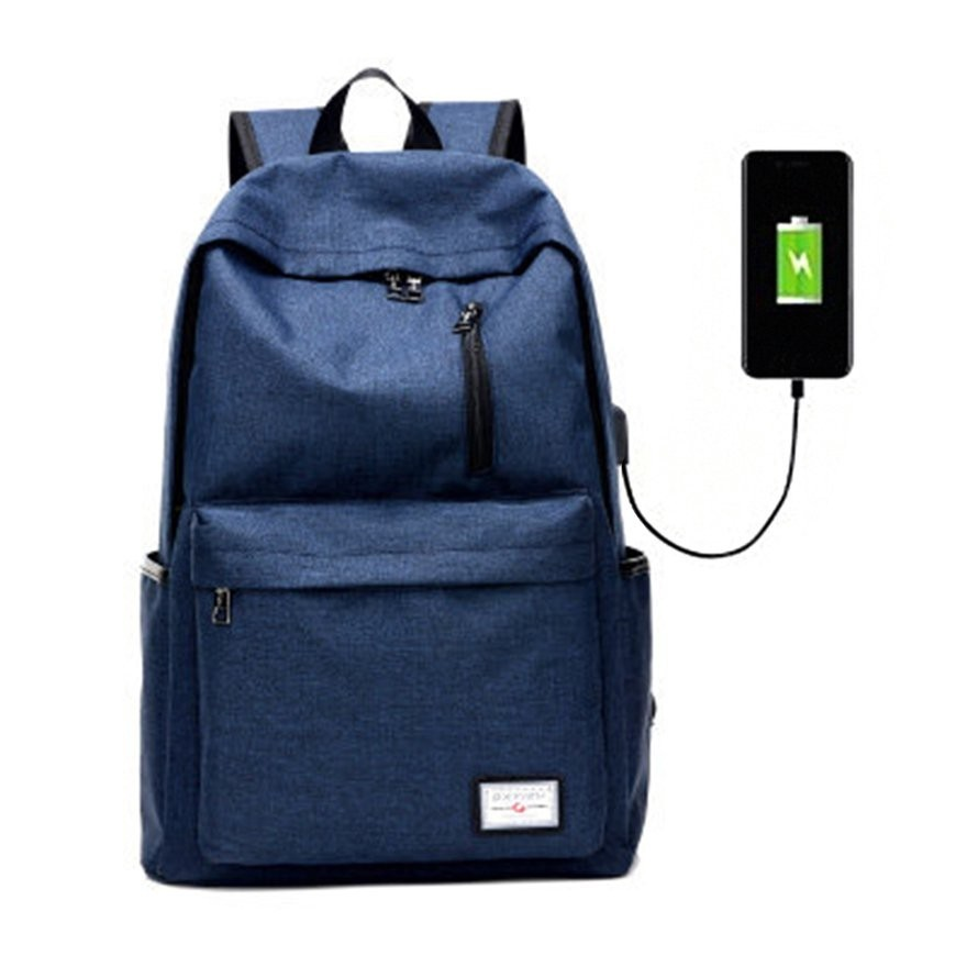 e79d56290a00 Pre-order  large capacity usb port canvas backpack