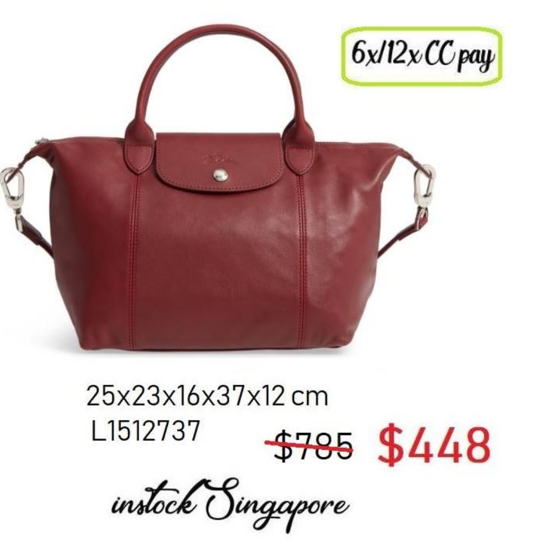 8bfa09a7cd10 READY STOCK SG - BRAND NEW - AUTHENTIC Longchamp LE PLIAGE cuir ...