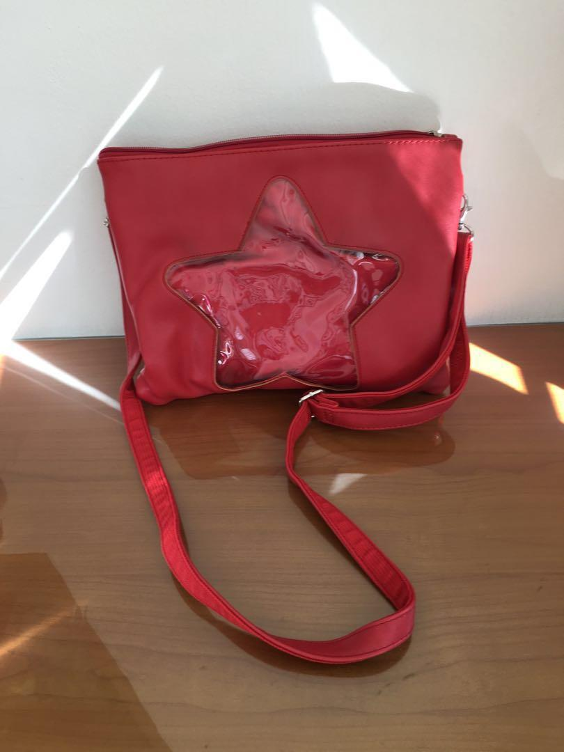 Red ITA Bag (Used), Entertainment, J-pop on Carousell