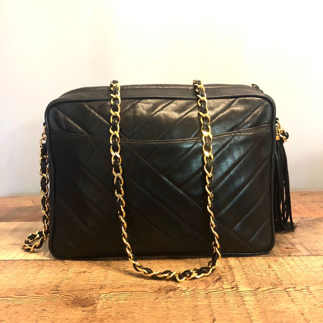 413ea2dc2b47 RESERVED Authentic Chanel Lambskin Camera Bag with 24k Gold Hardware,  Luxury, Bags & Wallets, Handbags on Carousell