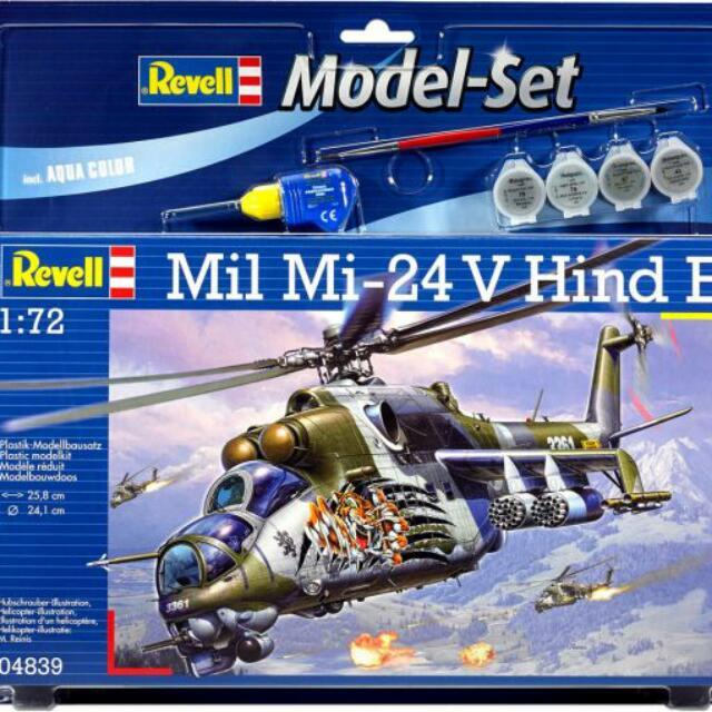 Revell  Mil Mi-24V Hind E  1:72 Scale Very Detailed Kit By Zvesda  Reboxed Under Revell Brand Brand New Model Set With Glue, Paints And Brush Great Decals