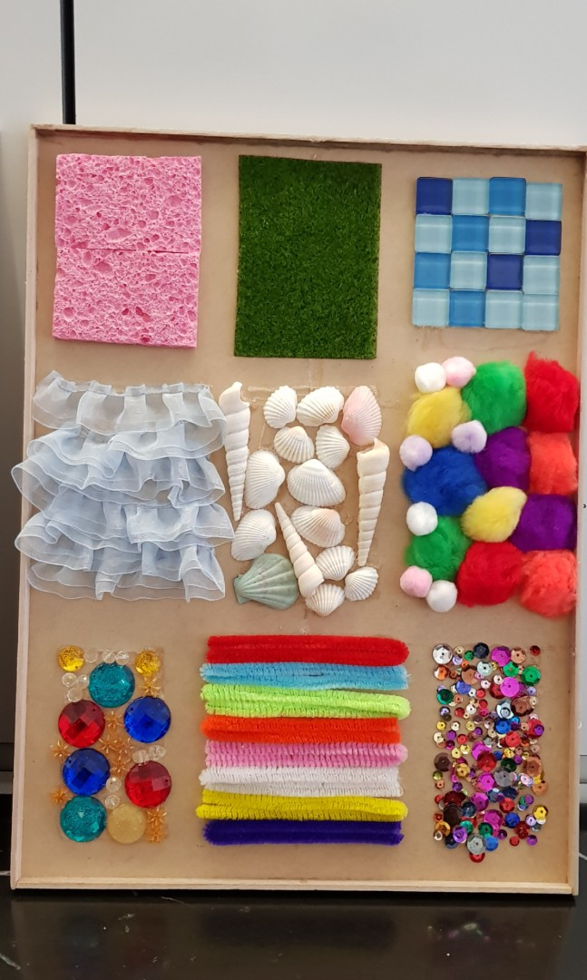 Sensory Board Texture Touch And Feel Diy Babies