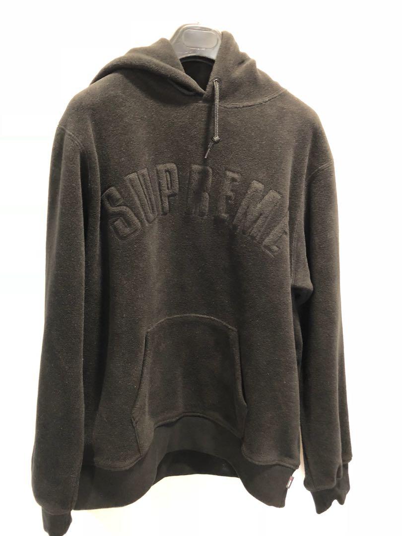 Supreme Polartec Hooded Sweatshirt Fw18 Men S Fashion Clothes Tops On Carou