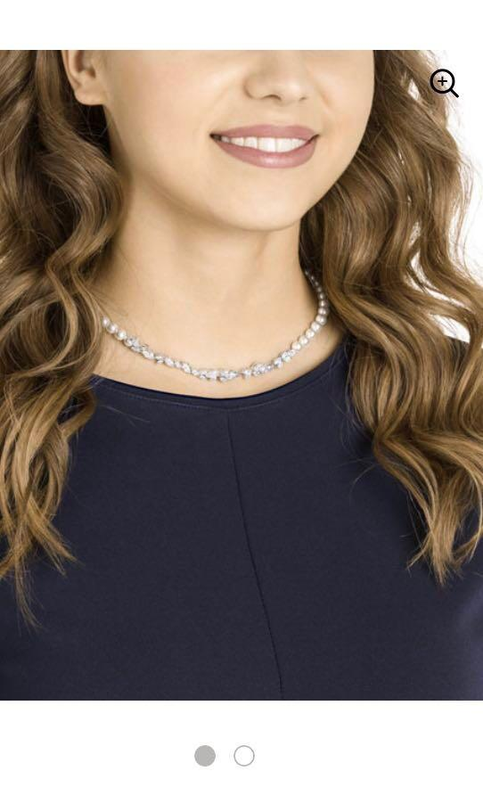 Swarovski Louison Pearl Necklace White Rhodium Plating