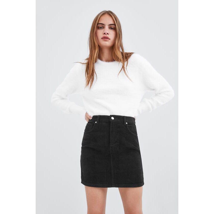 88544789dc Zara Corduroy Mini Skirt in Black