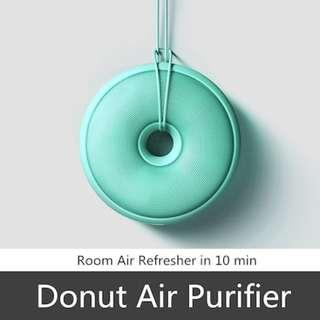 Donut Air Purifier / Steriliser. FREE MAILING! Air Freshener. Improve sleep and breathing. Best for gifts and presents. Black / Blue / Green / Pink / White / Yellow