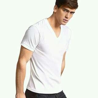Hanes White Plain T-shirt Premium Quality/3pcs