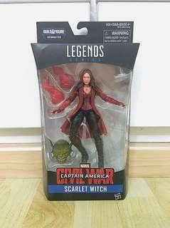 Marvel Legends Scarlet Witch  Captain America Civil War Abomination BAF Wave New and Sealed
