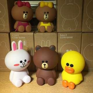 Line Characters Coin Bank