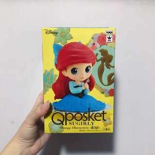 qposket disney ariel princess figurine authentic from japan