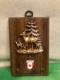 加拿大🇨🇦  掛鎖匙 木掛飾 掛鎖匙 掛牆