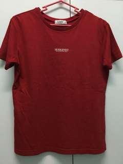 Bossini red modernist shirt