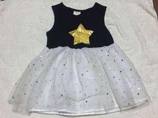 🚚 星星紗裙黑白洋裝