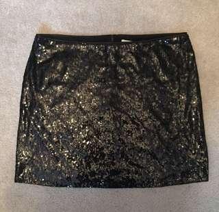 Black Sequin Mini Skirt - Designer Brand