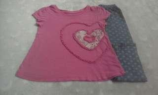 Combo 40 pcs girl 2-4 years clothes