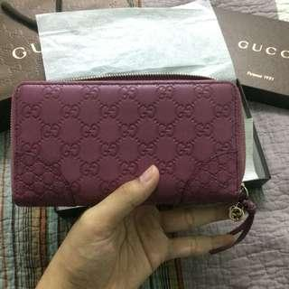 Gucci Purse in Purple Leather Made in Italy