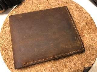 Genuine Leather Wallet 粗實牛皮銀包