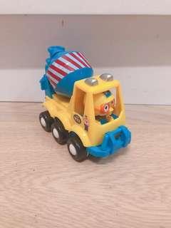 新淨 Pororo 正版回力玩具車