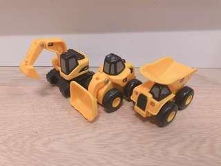 新淨 Cat 工程玩具泥頭車 有燈
