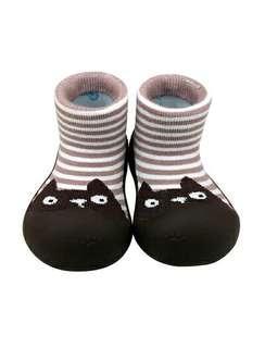 🚚 韓國BigToes幼兒襪型學步鞋-棕熊躲貓貓