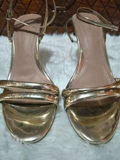 REPRICED Zara Heels - Gold