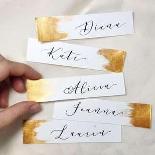 Wedding Place Card | Place Card | Escort Card | Name Card | Wedding Calligraphy | Wedding stationery