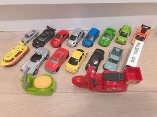 玩具車 共17架 有hot wheels, tomica