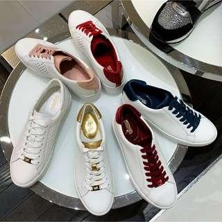 MICHAEL KORS Irving Leather and Metallic Sneaker8.5號