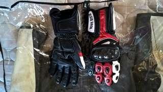Full Leather Long Riding Gloves like Ducati