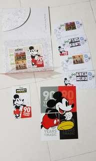 Mickey mouse 90th anniversary stamp folder #valentine gift #cny888
