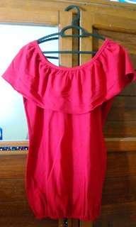 #bersihbersih Kaos merah