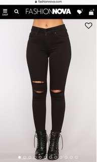 FashionNova Black High Waist Skinny Jeans