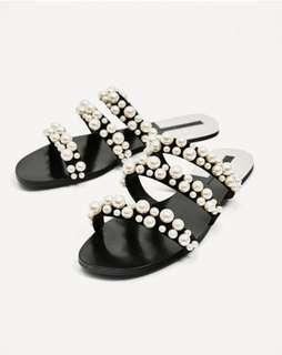 Zara pearl sandal women's 7