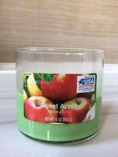 Sweet Apple 3-wick candle made in USA