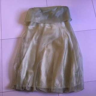 Green Frock Dress. Satin Dress. Short Dress. Formal Evening Dress.