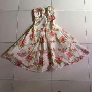 Spaghetti / Tube Flora Dress