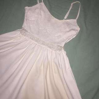 Short dress H&M (Mini white dress HnM)