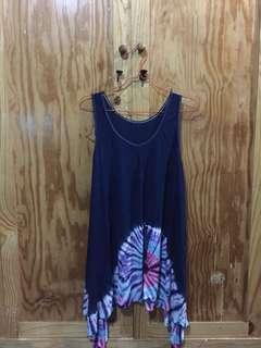 Bali blue sleeveless top