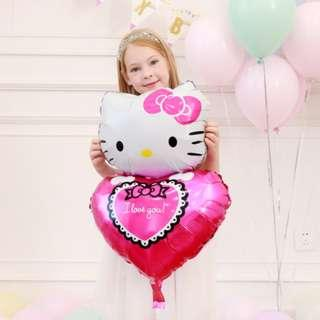 Hello Kitty 心心氣球 68 x 48 cm 生日 · 結婚· 宴會 · 派對 · 場地佈置 · 生日party