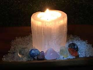 *sold* Selenite candle holder