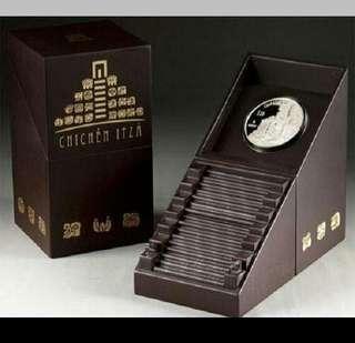 👉★ MEXICO $10 Pesos - 2012 Chichen Itza. 1x 2 Troy Oz. 999 Fine Silver Proof coin