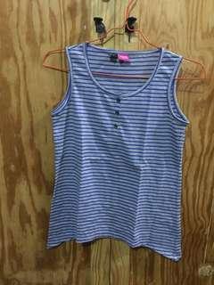 Striped purple sleeveless top