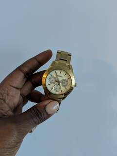 Fossil watch gold tone