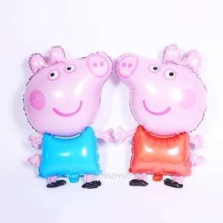 Peppa Pig  鋁氣球 party 生日 場地佈置